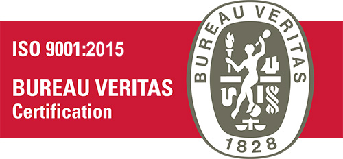 Certification ISO 9001:2015 Bureau Veritas
